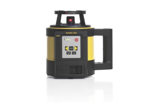 nivel laser leica rugby 840 con receptor re 140 front