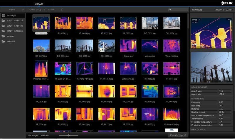 Video Software de creación de informes FLIR Tools+