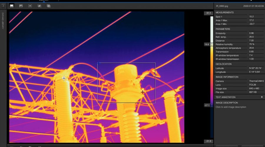 Video Software para windows que elabora informes termográficos FLIR Tools