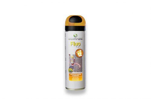 Spray de pintura fluorescente amarilla