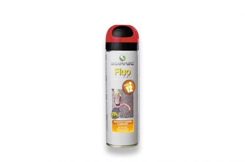 Spray de pintura fluorescente roja