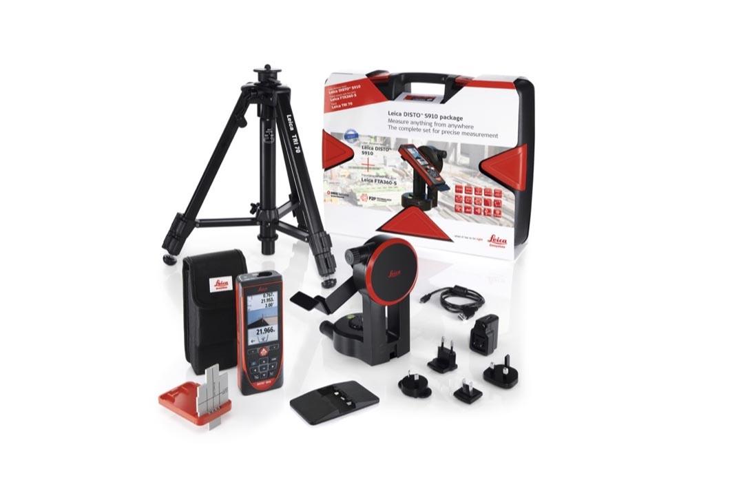 medidor laser medidor de distancias Leica DISTO S910 leica-disto-s910+adaptador+tablilla-front