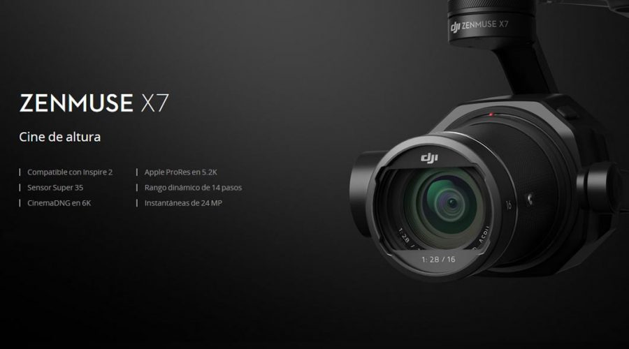 Video DJI Zenmuse X7