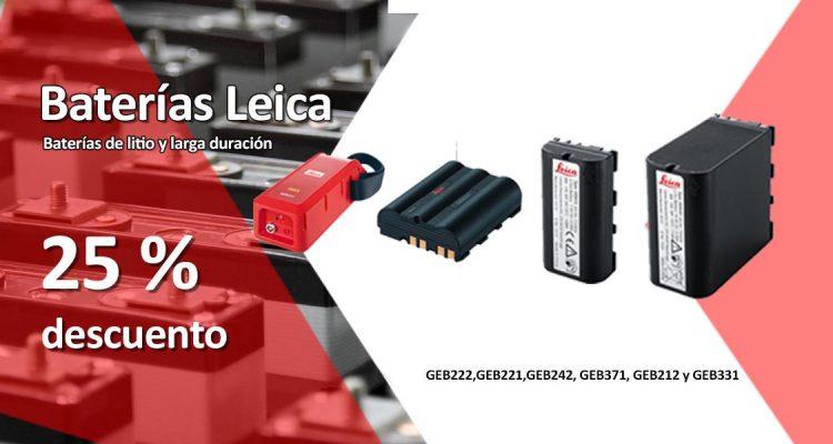 Oferta baterías Leica