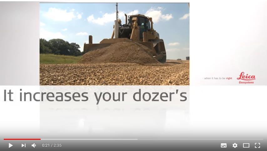 Video Control de maquinaria Leica para Bulldozers