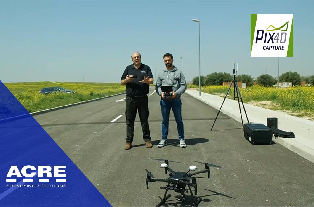 Demostración de plan de vuelo con Pix4D Capture y dron DJI Matrice 210 RTK