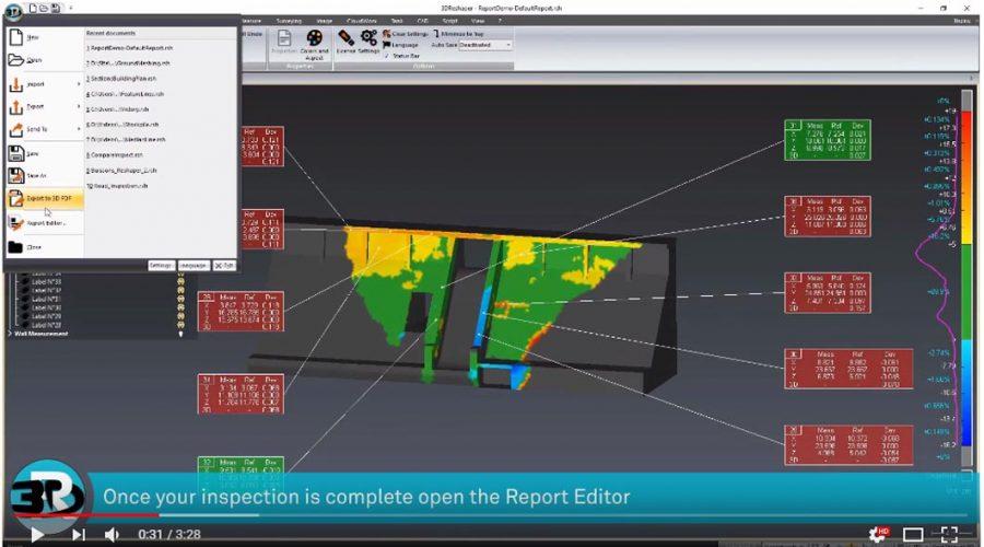 Video Software de procesamiento de imágenes 3DReshaper de Hexagon
