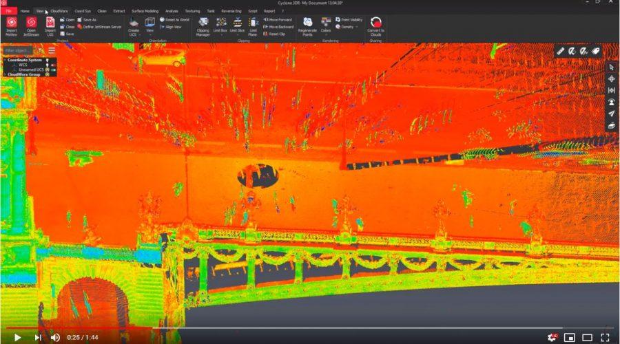 Video Leica Cyclone 3DR Software de procesamiento de nubes