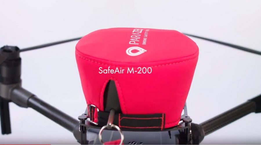 Video Paracaídas SafeAir para dron DJI serie Matrice 200