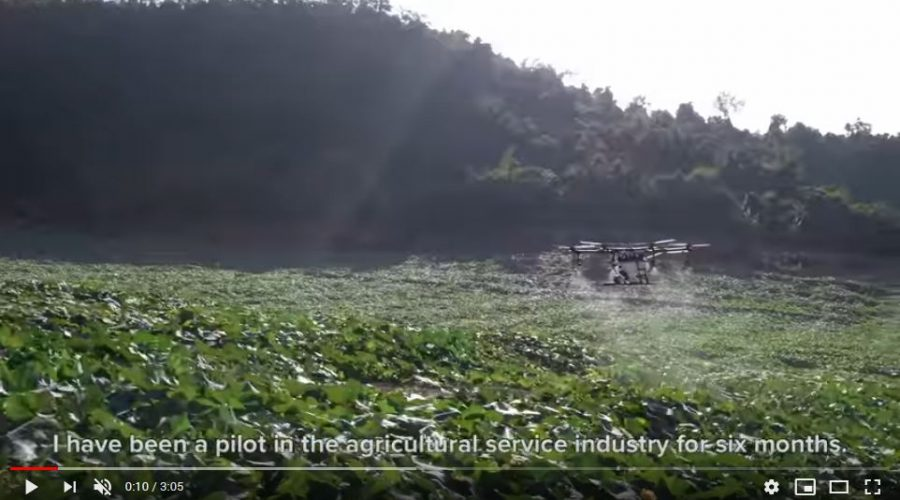 Video Dron DJI AGRAS MG-1S para agricultura de precisión