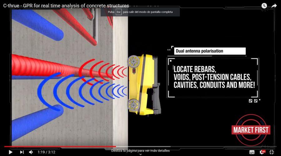 Video Escáner de hormigón para análisis Leica C-Thrue