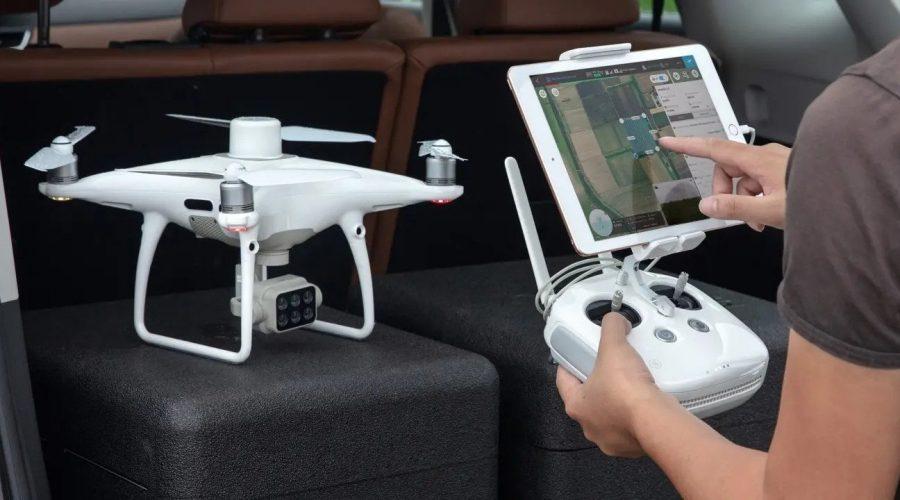 Video P4 Multispectral. Dron DJI Phantom 4 Multiespectral