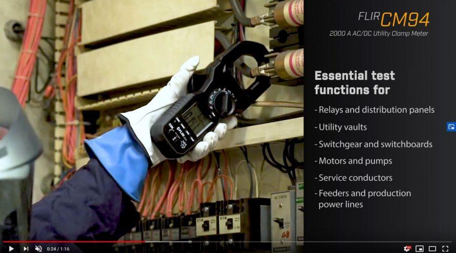 Video Medidor de tenaza industrial FLIR CM94