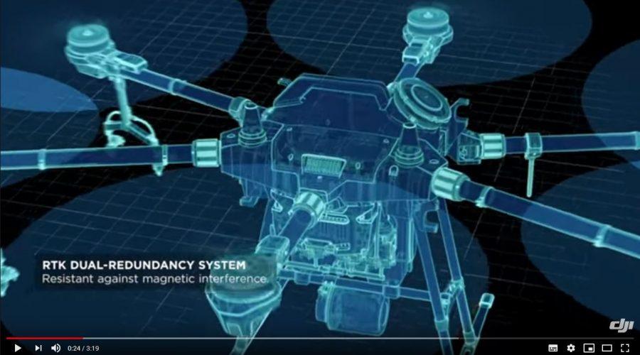 Video Dron DJI AGRAS T16 para agricultura de precisión