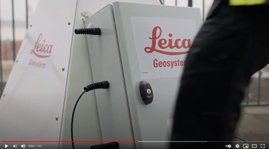 Video Control de sensor de monitoreo Leica GeoMoS Edge