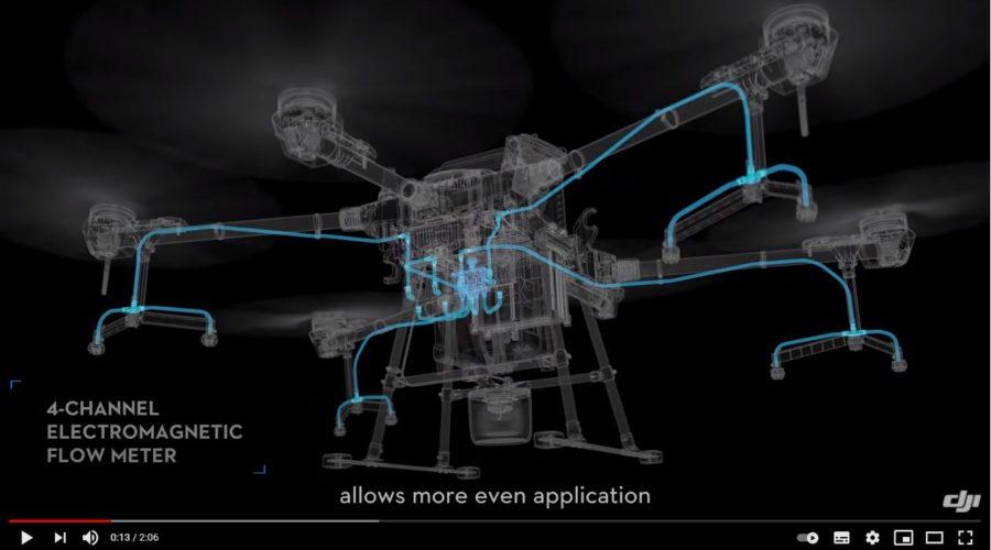 Video Dron DJI AGRAS T20 para agricultura de precisión